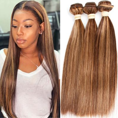 Luxediva Pre-Colored Ombre Brown P4 -27 Human Hair Brazilian Straight Hair Bundles Remy Human Hair Extensions Wholesale Deals