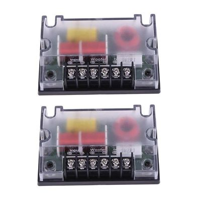 2PCS Car 2 Way Audio Speaker Frequency Divider Audio Speaker Woofer Wave Filter 200W Crossover Filter Auto Replacement Parts
