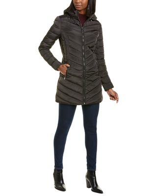 Nanette Lepore Chevon Quilted Puffer Coat