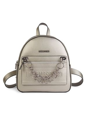 Love Moschino Chain Logo Backpack