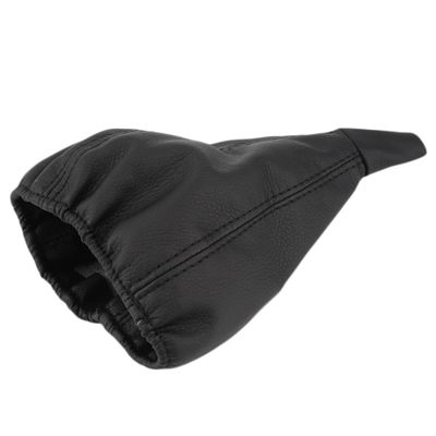 Universal Black Car Gear Head Dust Cover Vehicle Leather Gear Shift Knob Boot for most car