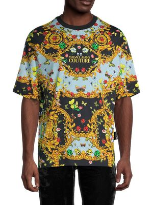 Versace Jeans Couture Printed Cotton Tee