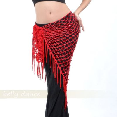 women Belly dance waist chain hip scarf sequins bandage Dance belt 10 colors for your choice