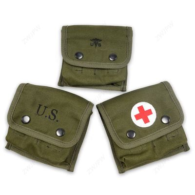 WW2 US MILITARY ARMY M2 M1945 GUNGLE FIELD FIRST AID KIT POUCH BAG WITH CROSS & WITHOUT CROSS COLLECTION HIGH QUALITY