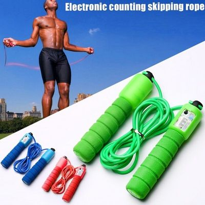 Professional sponge electronic counting rope skipping pattern rope skipping Sports Fitness examination rope skipping Wire