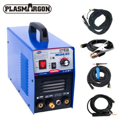 CT418 TIG/ MMA/CUT TIG Welder, Inverter 3 in 1 Welding Machine,120A TIG/ MMA 30A CUT ,Portable Multifunction Welding Equipment