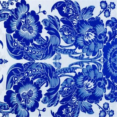 75x100cm Chinese Jacquard Blue and White Porcelain Design Brocade Polyester Fabrics for 2020 New Year