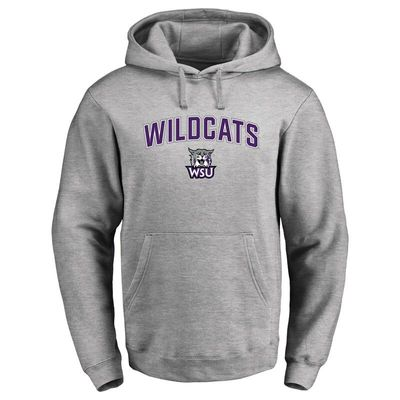 Weber State Wildcats Proud Mascot Pullover Hoodie - Ash -
