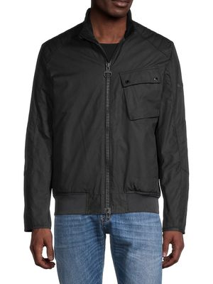 Barbour International Seton Waxed Cotton Bomber Jacket