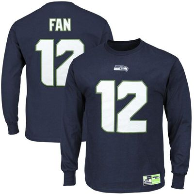 12s Seattle Seahawks Eligible Receiver II Name and Number Long Sleeve T-Shirt - College Navy