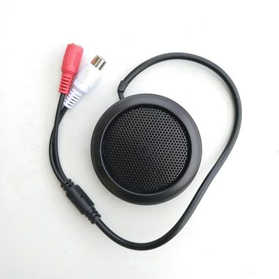 CCTV pick up Microphone Mini Audio for camera security RCA Audio Output black color high quality sensitivity round shape
