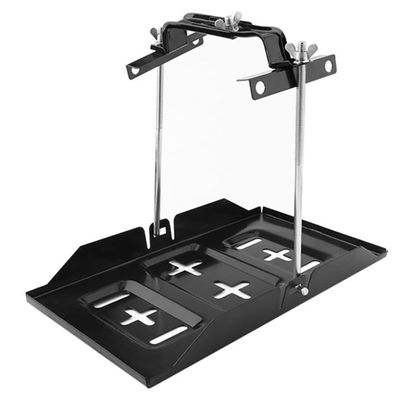 Hold Down Clamp Stable Rack Black Universal Durable Auto Accessories Car Recessed Slots Marine Boat Bracket Battery Tray Metal