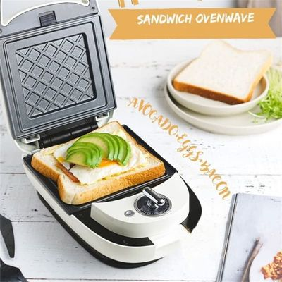 Home Multi - Function Bread Breakfast Machine Toaster Home Kitchen Sandwich Maker Non-stick Electric Cake Pan
