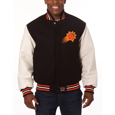 Phoenix Suns JH Design Domestic Two-Tone Wool and Leather Jacket - Black
