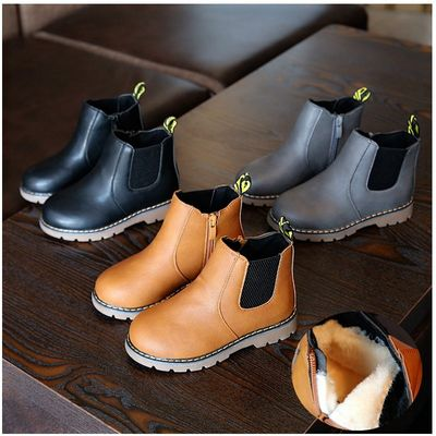 Martin Boots for Baby Girls Leather Anti-Slip Sole for Baby Boys Toddler Sneakers Trainer British Style Ankle Boots Kids Shoes