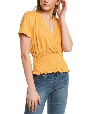 1.STATE Smocked Waist Top