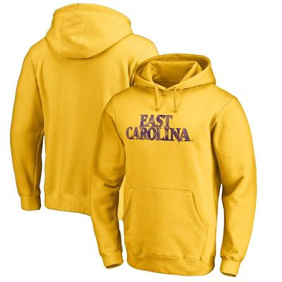 East Carolina Pirates Classic Wordmark Pullover Hoodie - Yellow
