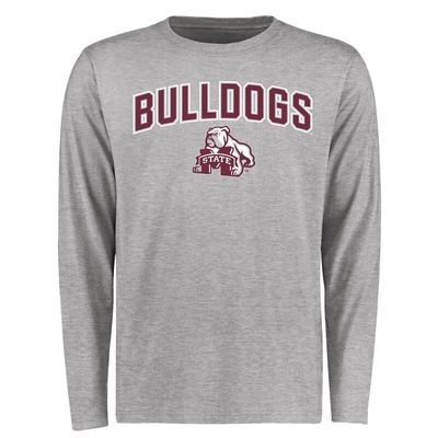 Mississippi State Bulldogs Proud Mascot Long Sleeve T-Shirt - Ash