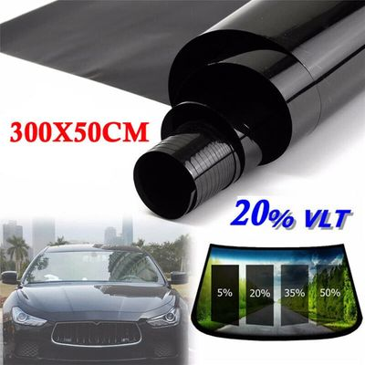 Hot Sale 300*50cm VLT Black Film Roll Tint Window Car Tint Auto Glass Window Summer House Sunscreen UV Adhesive Film Stickers