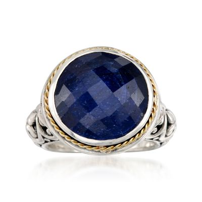 Ross-Simons Balinese Sapphire Ring in 14kt Yellow Gold and Sterling Silver