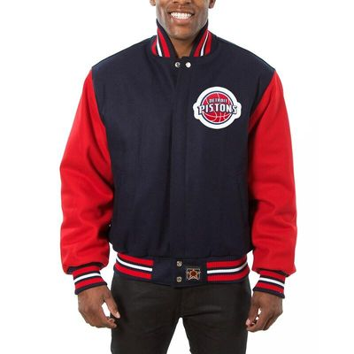 Detroit Pistons JH Design Domestic Two-Tone Wool Jacket - Navy