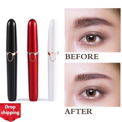 New Electric Eyebrow Trimmer Brows Pen Hair Remover Painless Multifunction Lipstick Eye Brow Razor Epilator Mini Shaver Razors