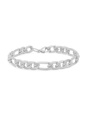 Anthony Jacobs Stainless Steel Figaro Chain Bracelet