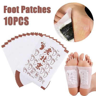 10PCS Detox Foot Pads Body Detox Foot Patch Feet Care Slimming Old Beijing Foot Patch Ginger Organic Detox Feet Cleansing