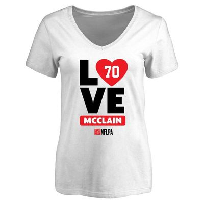 Antoine McClain Fanatics Branded Women's I Heart V-Neck T-Shirt - White