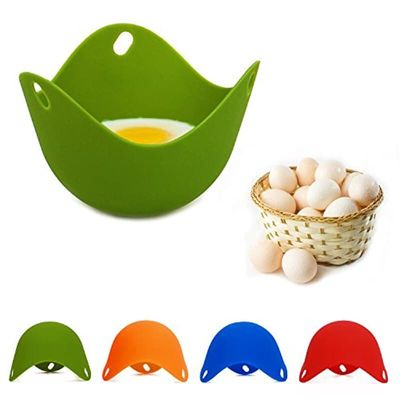 Natural Silicone Egg-Boiler Environmental Protection Egg Steamer Multicolor