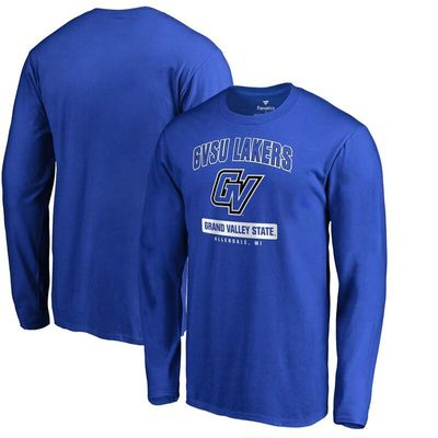 Grand Valley State University Lakers Campus Icon Long Sleeve T-Shirt - Royal