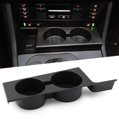 Black Front Car Cup Holder Car Accessories for BMW E39 5-Series 1997-2003 Plastic Black Portable Car Front Cup Holder