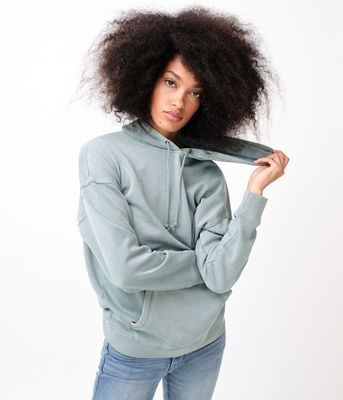 Aeropostale Washed Oversized Pullover Hoodie