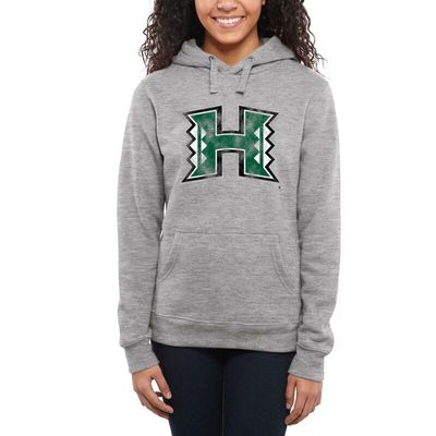 Hawaii Warriors Women's Classic Primary Pullover Hoodie - Ash -