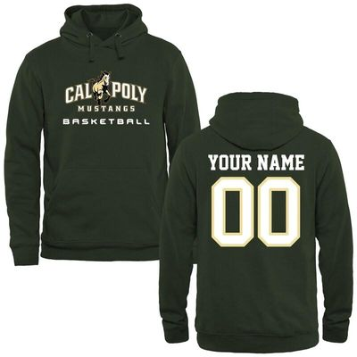 Cal Poly Mustangs Personalized Basketball Pullover Hoodie - Green