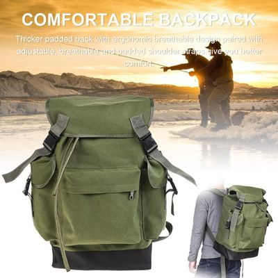 70L Army Green Fishing Gear Bag Large Capacity Outdoor Backpack for Camping Hunting Climbing high quality