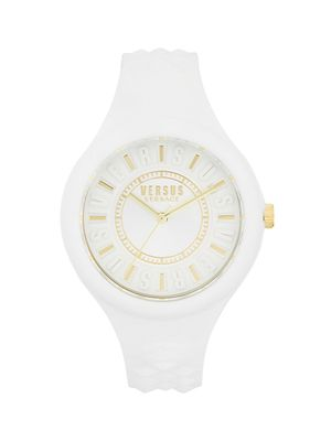 Versus Versace Stainless Steel Silicone-Strap Watch