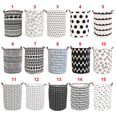 Storage Basket Folding Laundry Basket For Toy Storage Dirty Clothes Large Capacity Sundries Pouch Household Organizers