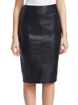 Crosley COLLECTION Zip Leather Pencil Skirt