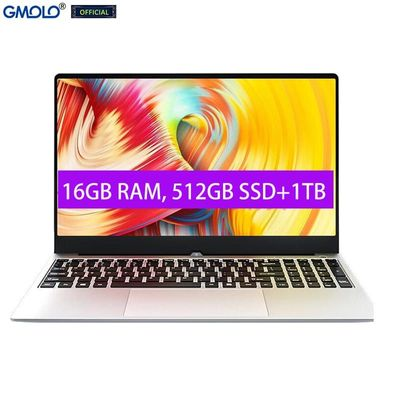 GMOLO 15.6 metal gaming notebook laptop 16GB RAM 512GB SSD + 1TB In*tel I7 4th Gen 15.6inch IPS HD screen Windows 10 computer