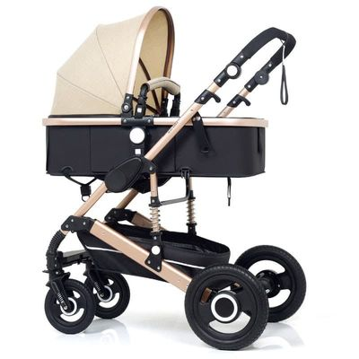2019 new Baby Trolley high landscape 3 in 1 Baby Stroller Adjustable steady in four seasons Strollers Folding mother assistant