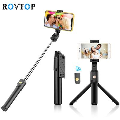 Rovtop Bluetooth 4.0 Selfie Stick Mini Tripod For iPhone Android Phone Foldable Handheld Monopod Shutter Remote Control Z2