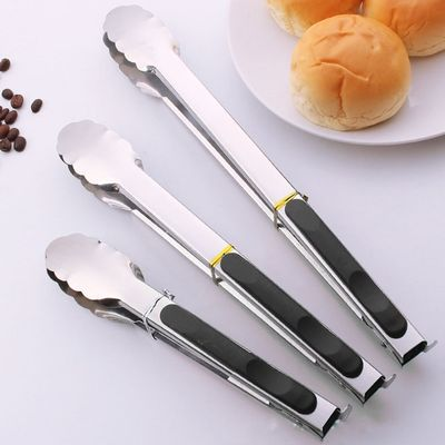 Kitchen Tools Stainless Steel Anti-scalding Bread Food Clip Barbecue Tongs BBQ Grilling Bbq Tools Kitchen Grill Accessories.Q