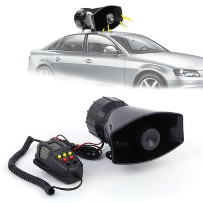 2019 Wholesale 7 Sound Loud Car Warning Safety Alarm Police Fire Broadcasting Siren Air Horn PA Speaker Security Accessories