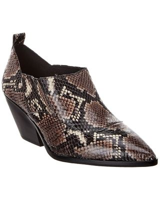 Vince Camuto Jetera Snake-Embossed Leather Bootie