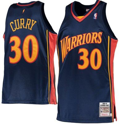 Stephen Curry Golden State Warriors Mitchell & Ness 2009-10 Hardwood Classics Rookie Authentic Jersey - Navy