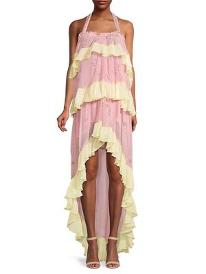 Rococo Sand Ruffled High-Low Dress