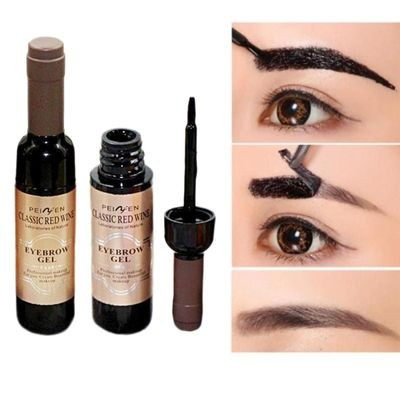 Peel Off Eyebrow Tattoo Gel Black Coffee Gray Red Wine Tattoo Brow Gel Tint Waterproof Peel Off Eye Brow Tattoo Dye Eyebrow