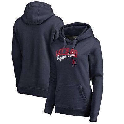 Duquesne Dukes Women's Let's Go Pullover Hoodie - Navy
