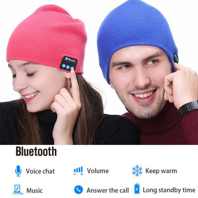 Fashion Beanie Hat Cap Wireless Bluetooth Earphone Smart Headset Speaker Mic Winter Outdoor Sport Stereo Music Hat 18Nov28
